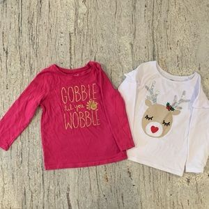 Thanksgiving Gobble and holiday reindeer shirts